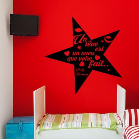 Sticker un rêve est un voeu que votre fait...