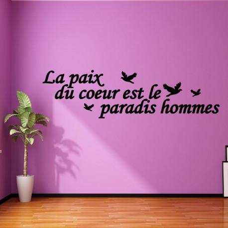 Sticker la paix du coeur est le paradis hommes