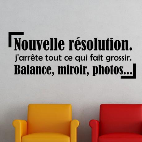 Sticker nouvelle résolution.