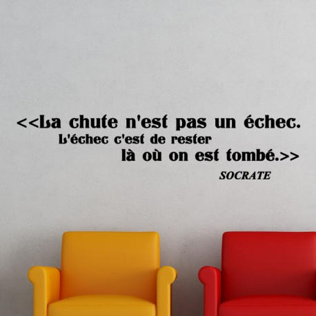 Sticker la chute selon Socrate
