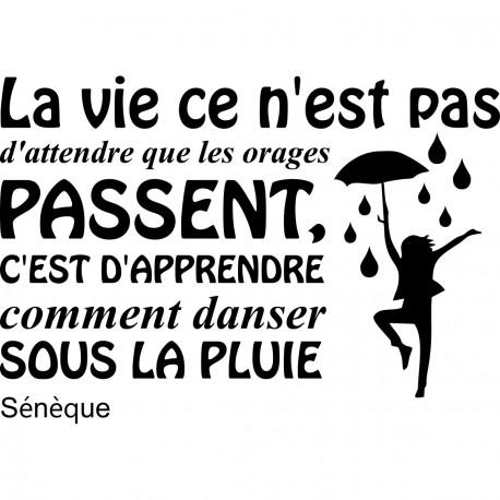Sticker La Vie Selon Sénèque Stickers Citation Texte