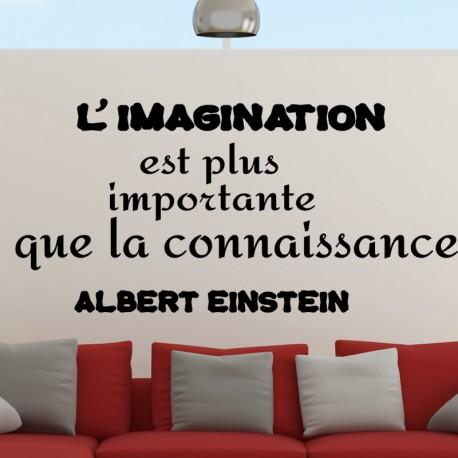 Sticker l'imagination est plus importante que la connaissance