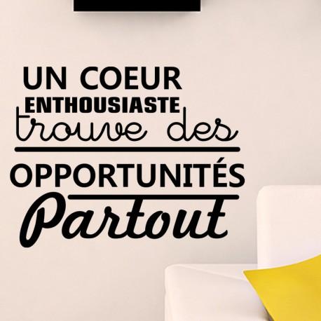 Sticker un coeur enthousiaste trouve des opportunités partout