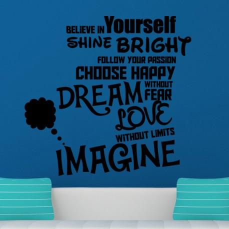 Sticker believe in yourself shine bright...
