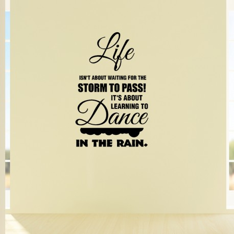 Sticker life isn't about waiting for the storm to pass!