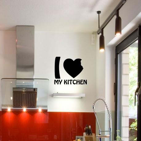 Sticker I love my kitchen