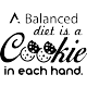 Sticker A balanced diet is a cookie in each hand