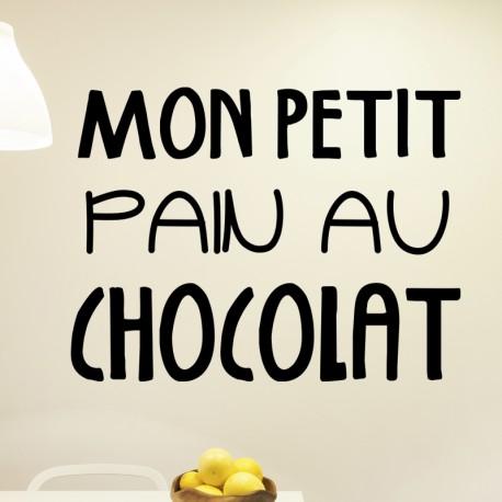Sticker mon petit pain au chocolat
