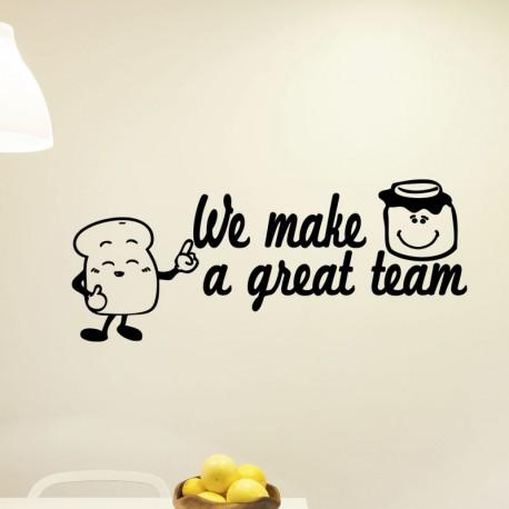 Sticker e make a great team