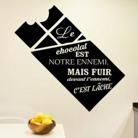 Sticker le chocolat est notre ennemi ...