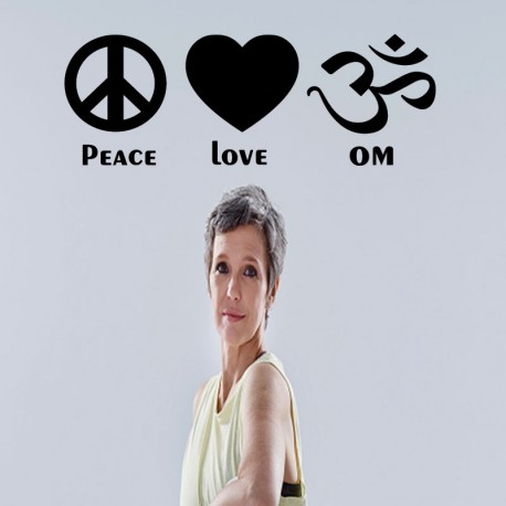 Sticker peace, love, OM