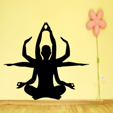 Sticker silhouette dieu indien