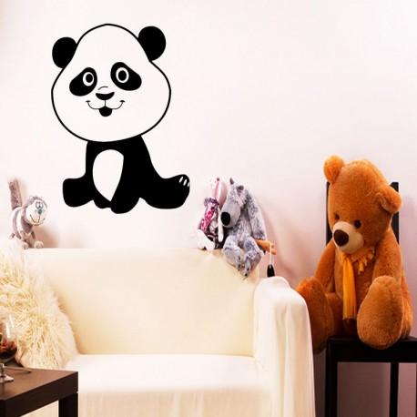 Sticker petit panda souriant