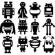 Sticker différent type de robots