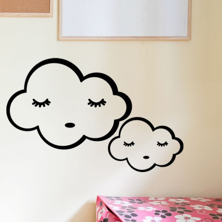 Sticker nuages endormis