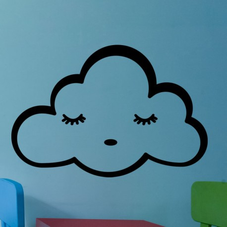 Sticker nuage endormi