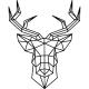 Sticker caricature tête de cerf