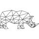 Sticker caricature d'un rhinocéros