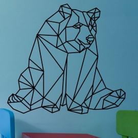 Sticker caricature d'un ours assi