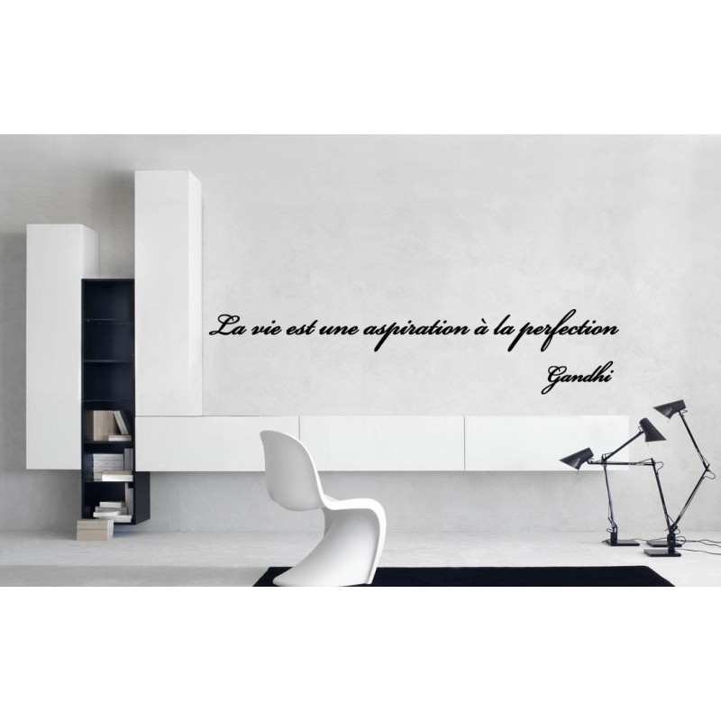 sticker citation de gandhi 2 stickers citation texte opensticker. Black Bedroom Furniture Sets. Home Design Ideas
