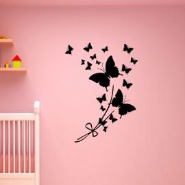 Sticker papillon en fleur