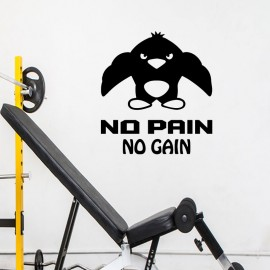 Sticker no pain no gain