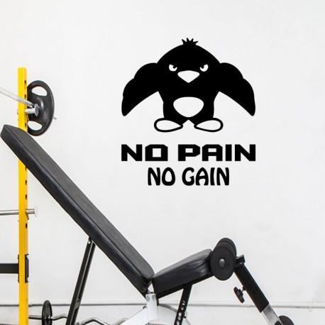 Sticker no pain no gain