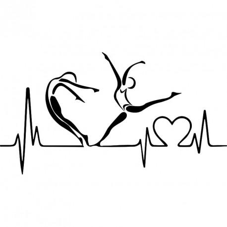 Sticker batements de coeur sportif