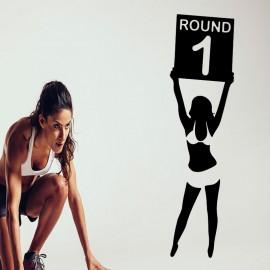 Sticker femme round 1