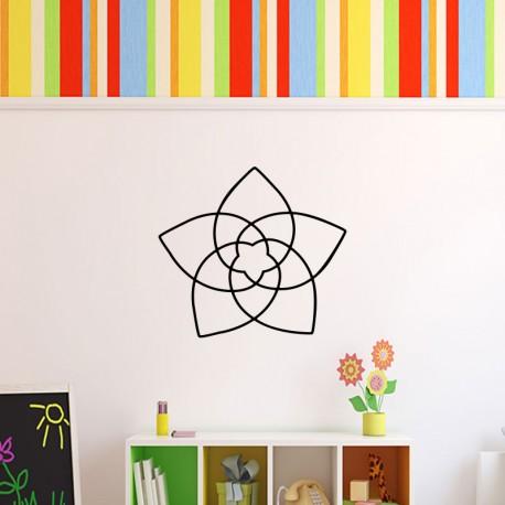 Sticker design déco en fleur
