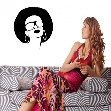 Sticker femme stylée rétro