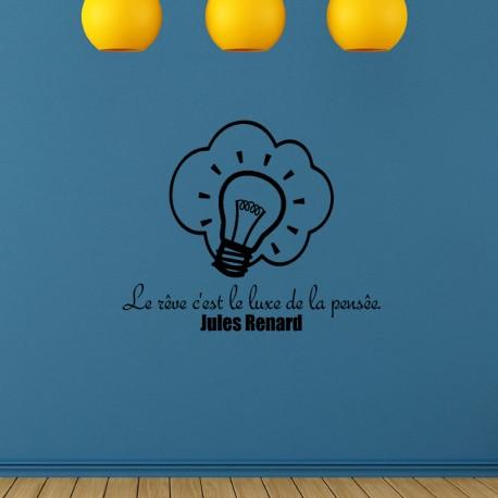 Sticker Le rêve c'est le luxe de la pensée