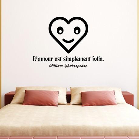 Sticker L'amour est simplement folie