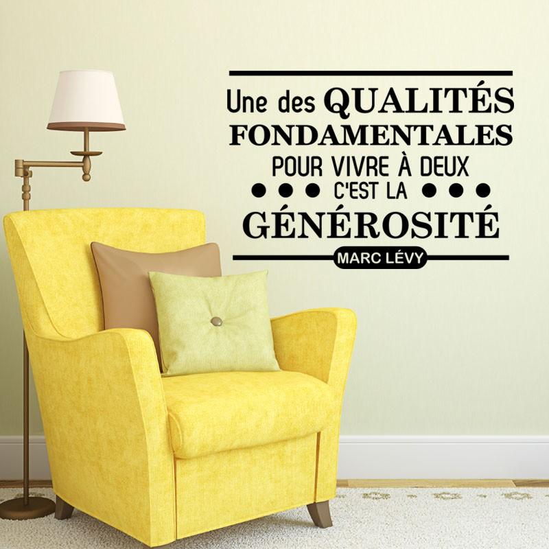 sticker une des qualit s fondamentales pour vivre deux stickers citation texte opensticker. Black Bedroom Furniture Sets. Home Design Ideas