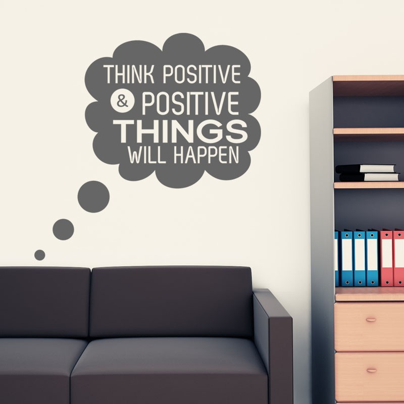 Sticker think positive & positive things will happen ...
