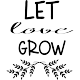 Sticker let love grow