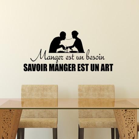 Sticker manger est un besoin, savoir manger est un art