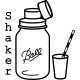 Sticker shaker ball