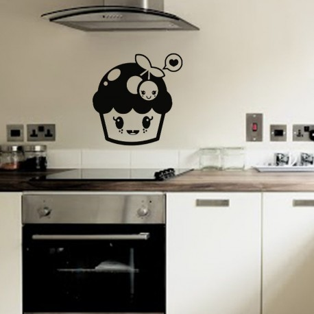 Sticker champignon heureux