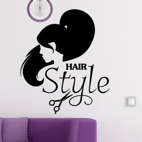 Sticker hair style