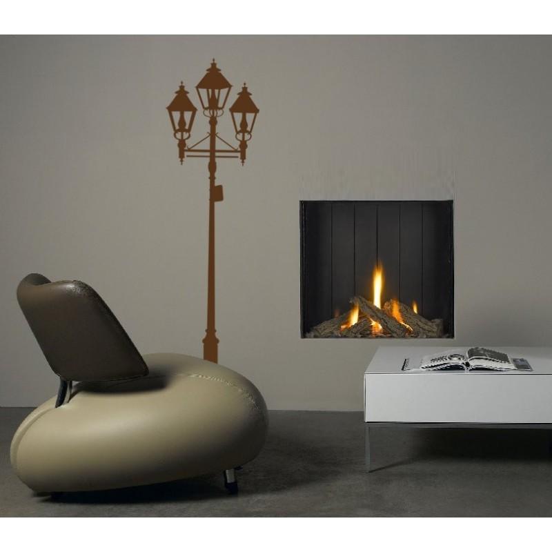lampadaire triple en sticker mural d coratif. Black Bedroom Furniture Sets. Home Design Ideas