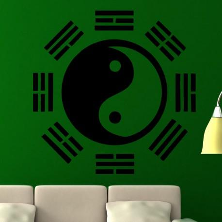 Sticker design yin yang