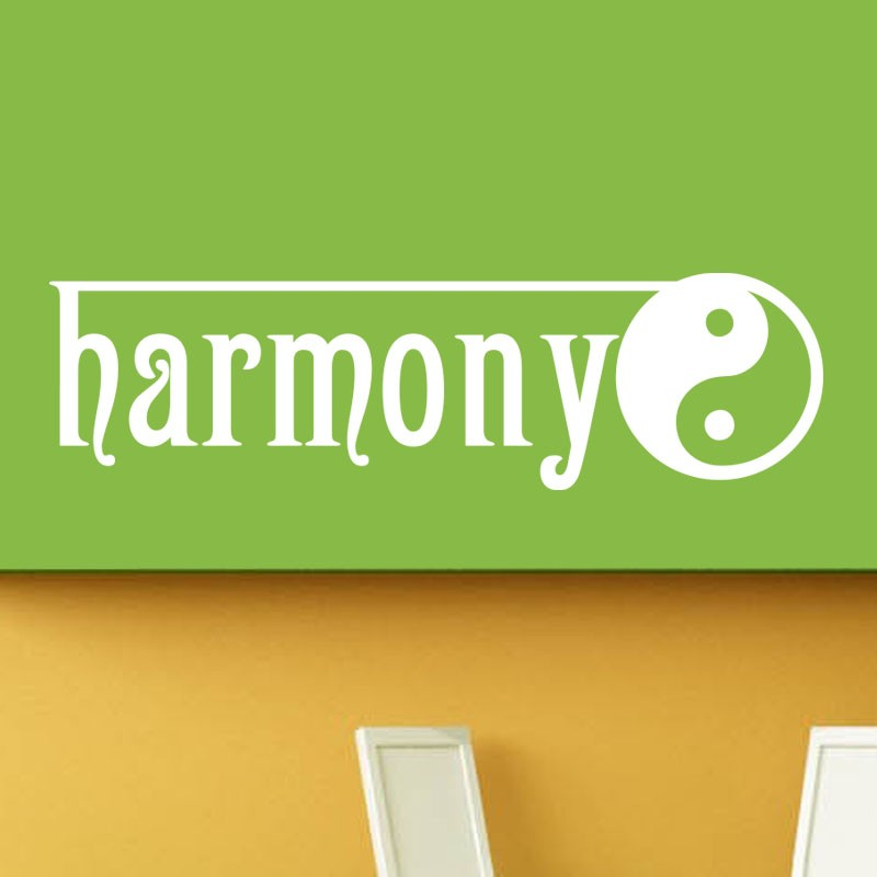 sticker yin yang harmony. Black Bedroom Furniture Sets. Home Design Ideas