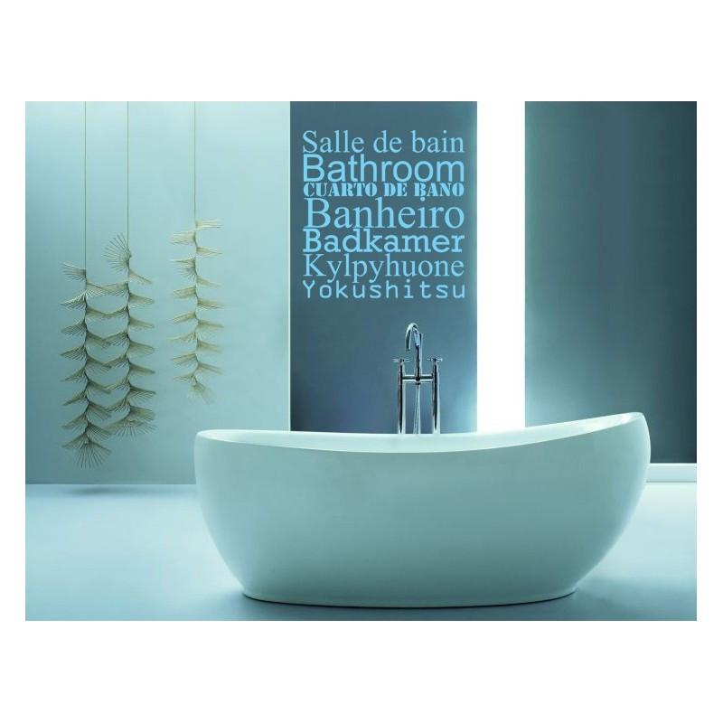 Sticker salle de bain stickers citation texte for Citation salle de bain
