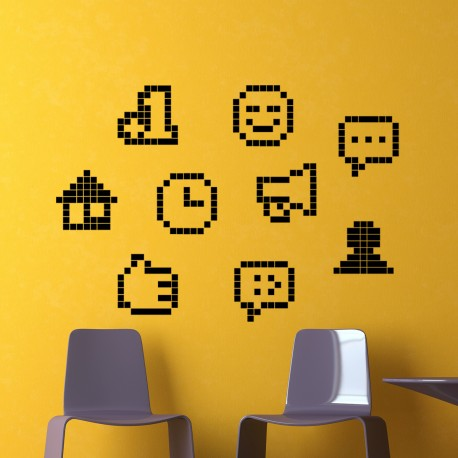 Sticker smileys en pixel