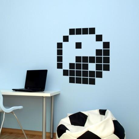 sticker Yin-Yang en pixel