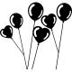 Sticker ballons ronds et coeurs
