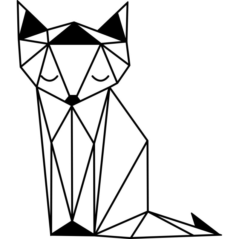 Sticker renard assi - Renard dessin ...