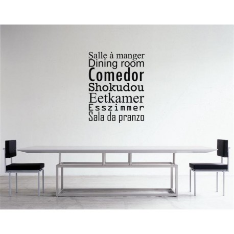 sticker salle manger stickers citation texte opensticker. Black Bedroom Furniture Sets. Home Design Ideas