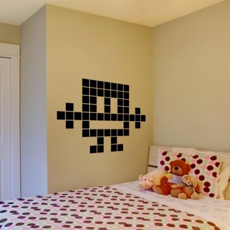 Sticker bonhome en pixel